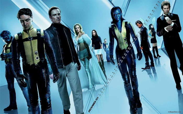 X Men First Class-December 2011-Calendar Desktop Wallpaper Views:3111
