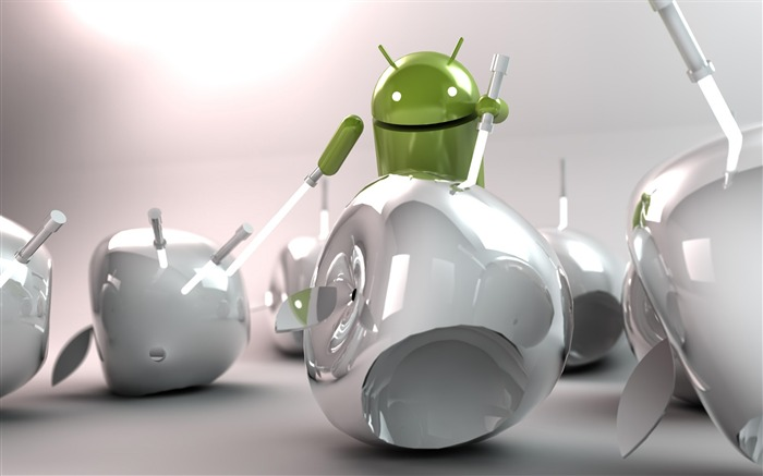 android vs apple-Android logo robotics Desktop Wallpapers Views:29641