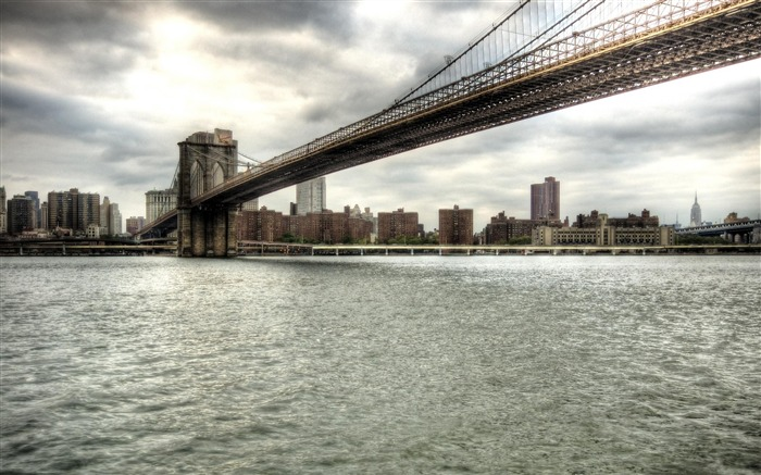 brooklyn bridge new york city-The urban landscape photography Desktop Wallpapers Views:14686