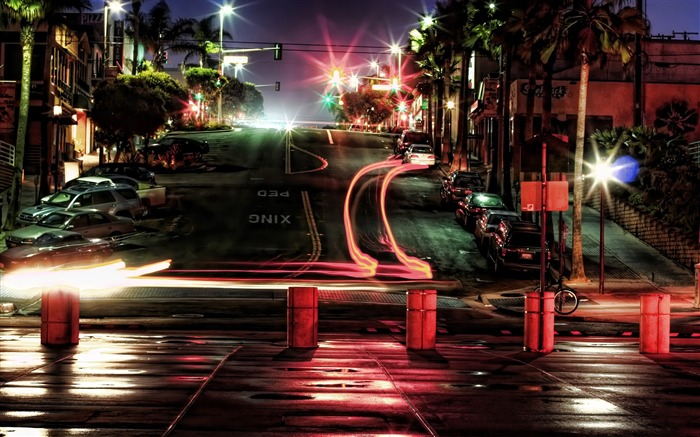 car lights at night-The urban landscape photography Desktop Wallpapers Views:12742