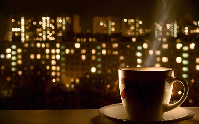 cup of coffee-The urban landscape photography Desktop Wallpapers Views:15987