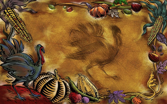 food-Thanksgiving day wallpaper illustration design Views:5611