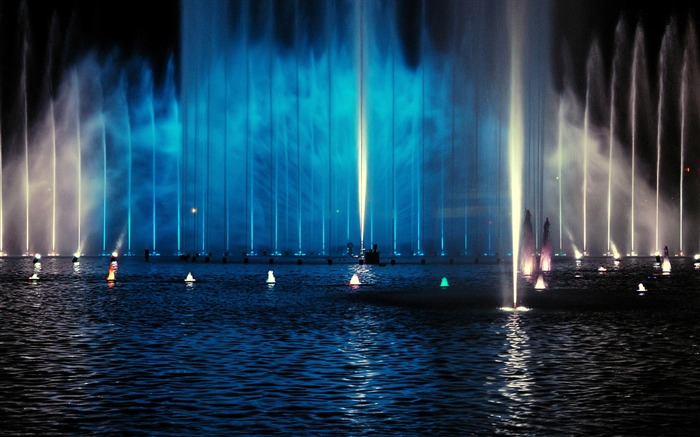 fountain night-The urban landscape photography Desktop Wallpapers Views:5120