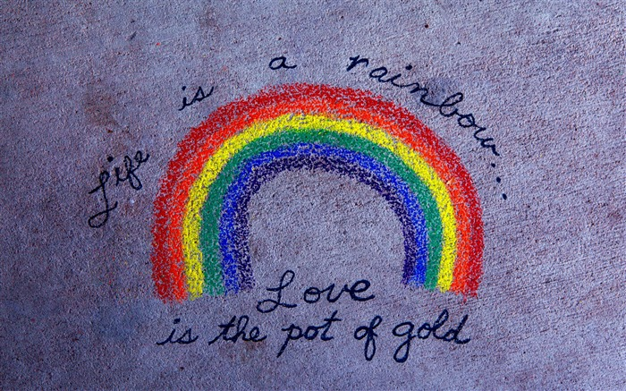 life is a rainbow-love wallpaper pictures Views:8827