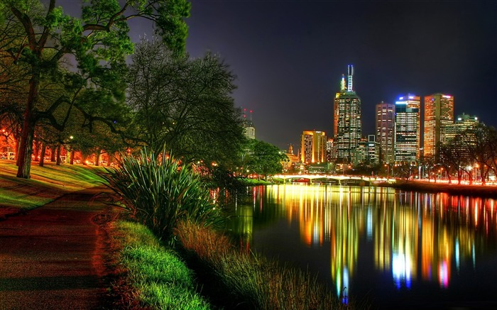 melbourne at night-The urban landscape photography Desktop Wallpapers Views:11375