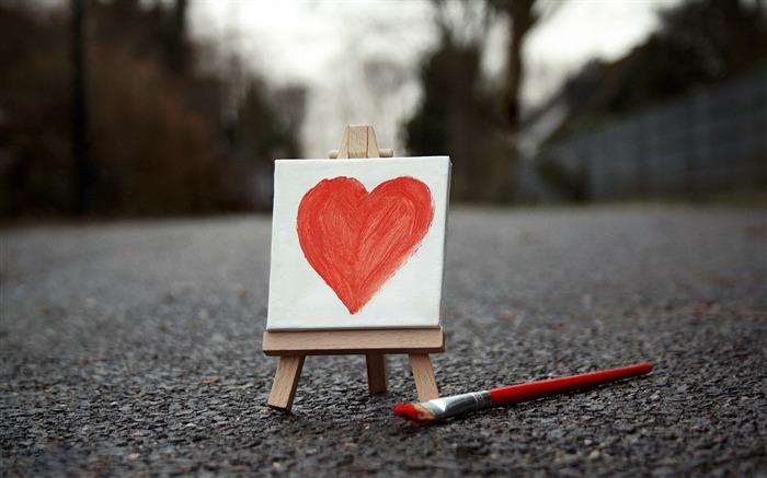 painted heart-love wallpaper pictures Views:7471