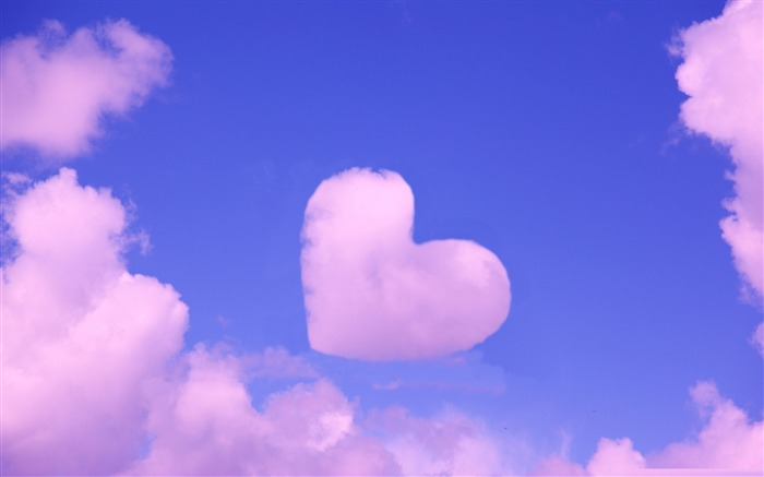 pink heart cloud-love wallpaper pictures Views:55138