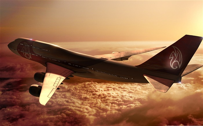 Boeing 747 airplane-civil aviation aircraft Desktop Wallpapers Views:6162