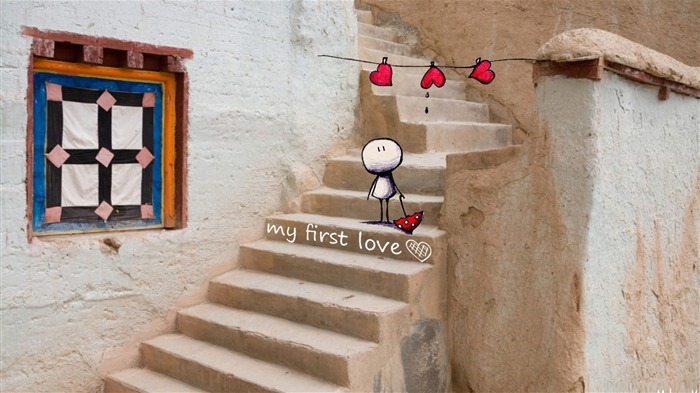 Sentimental first love-love theme desktop picture Views:2357