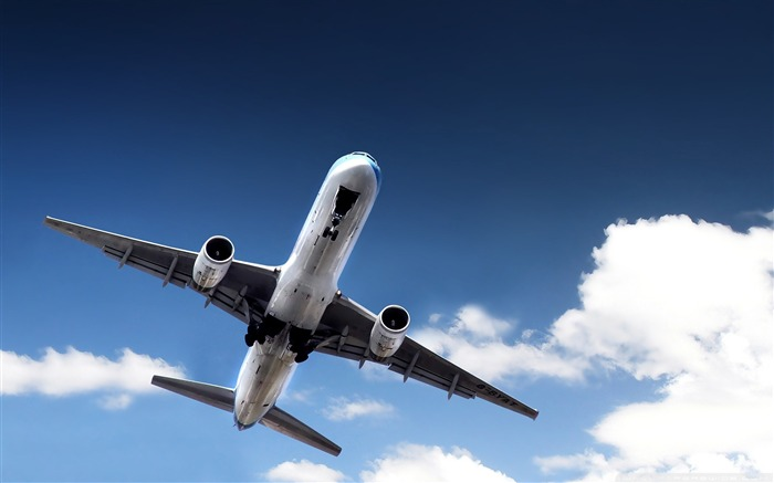 airplane taking off-civil aviation aircraft Desktop Wallpapers Views:10630