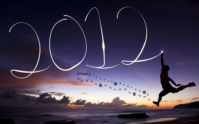 January 2012 calendar desktop themes wallpaper-second series Views:16401