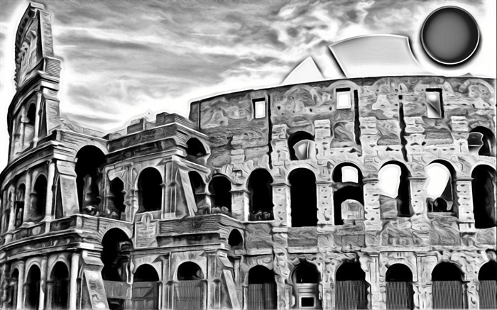 painting of colosseum-linux system desktop background wallpaper Views:3500