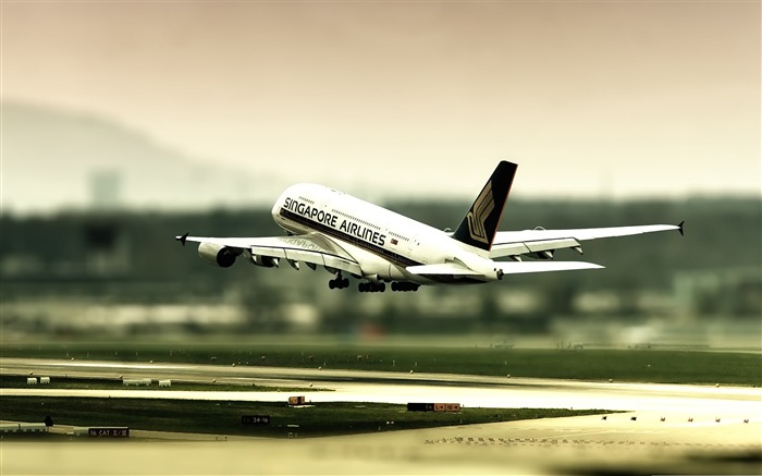 singapore airlines-civil aviation aircraft Desktop Wallpapers Views:5415