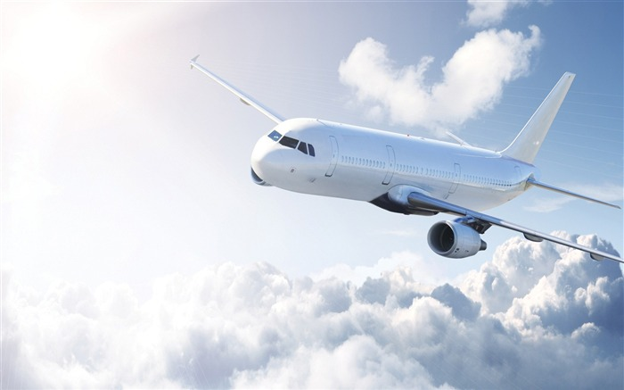 white airplane-civil aviation aircraft Desktop Wallpapers Views:6777