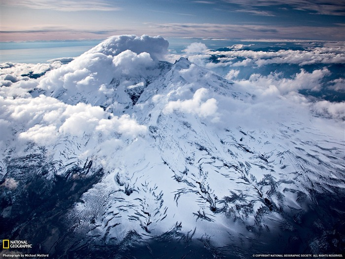 Iliamna Volcano Alaska-Landscape photography theme wallpaper Views:4341