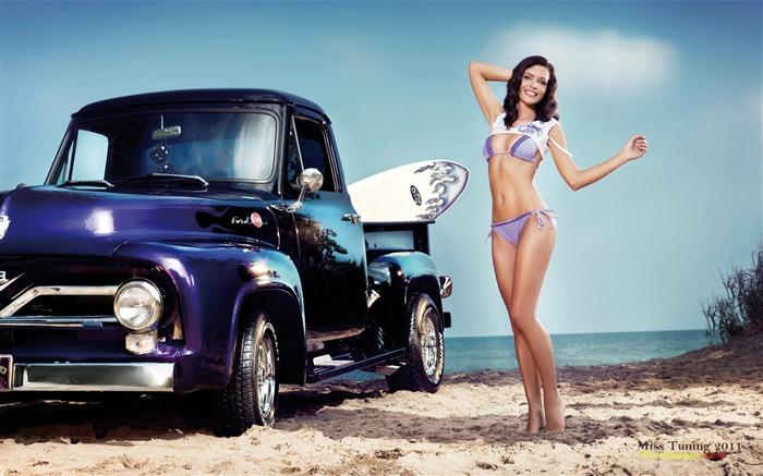 Kristin Zippel-2012 German tuning car models sexy lady HD wallpaper 06 Views:16330