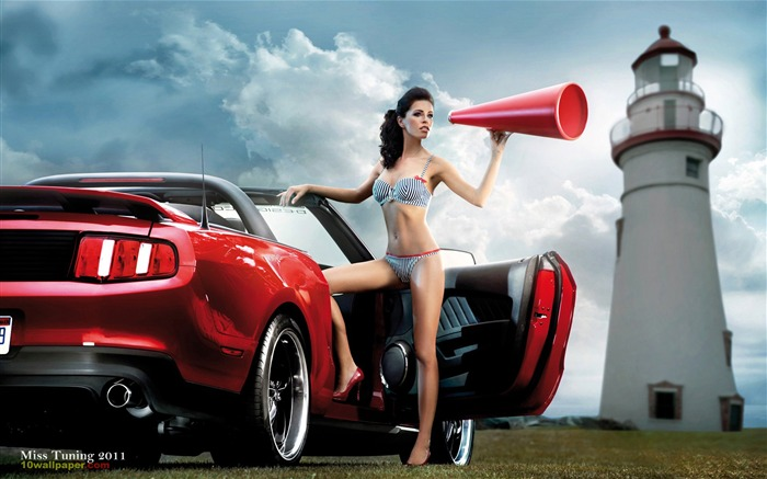 Kristin Zippel-2012 German tuning car models sexy lady HD wallpaper 10 Views:10908