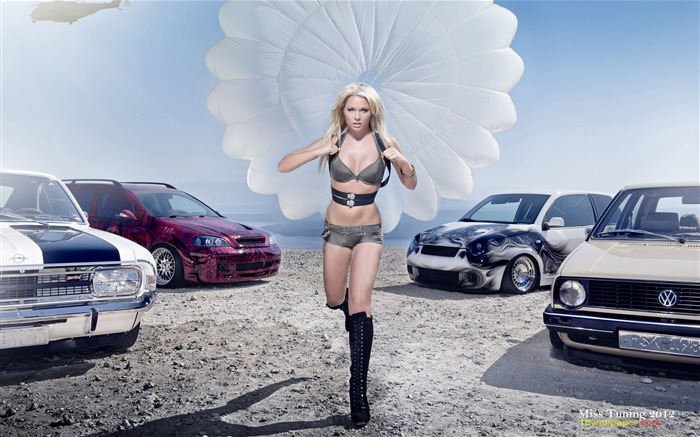 Mandy Lange-2012 German tuning car models sexy lady HD wallpaper 01 Views:23786