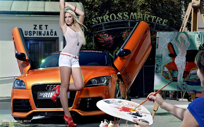 Mandy Lange-2012 German tuning car models sexy lady HD wallpaper 06 Views:41038