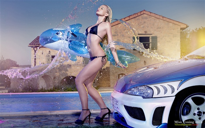 Mandy Lange-2012 German tuning car models sexy lady HD wallpaper 07 Views:14048