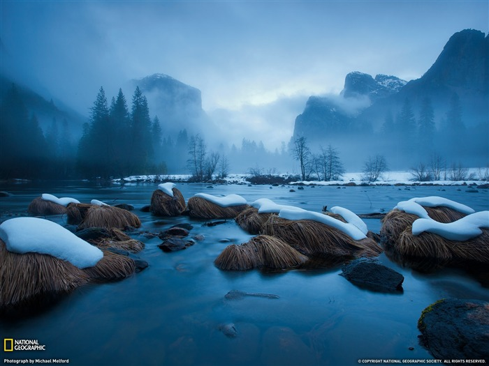 Merced River Yosemite-Landscape photography theme wallpaper Views:4947