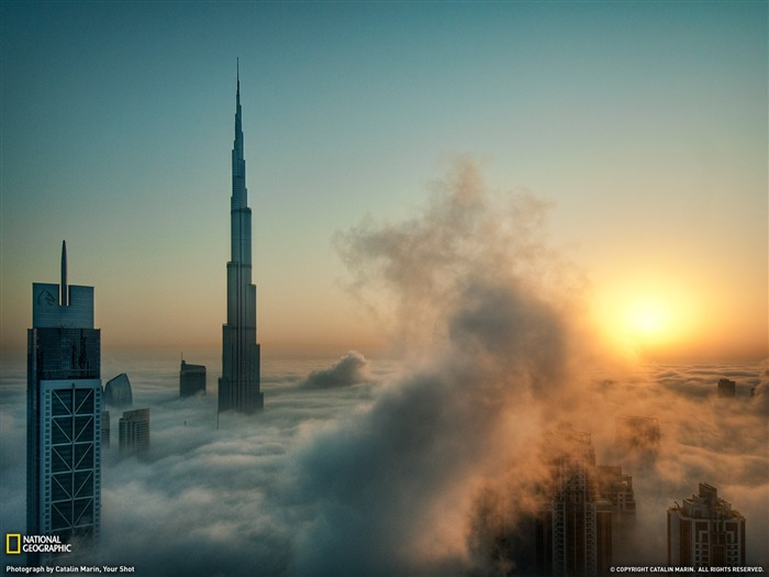 Skyscrapers Dubai-Landscape photography theme wallpaper Views:9547