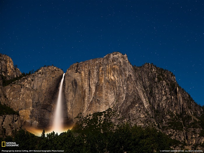Upper Yosemite Falls California-Landscape photography theme wallpaper Views:9758