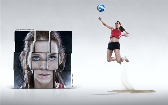Volleyball-outdoor sports Desktop picture Views:7293 Date:1/1/2012 5:02:09 PM