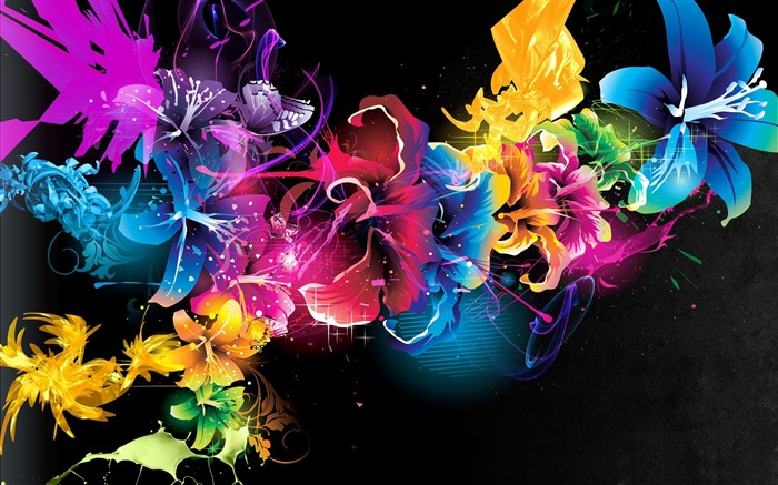 colorful flowers-Dream glare colorful design theme wallpaper Views:4705