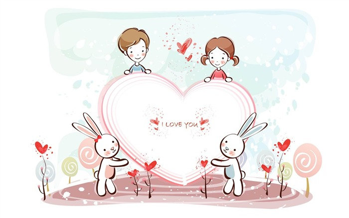 heart for you-Romantic Valentines Day Vector wallpaper album Views:7361
