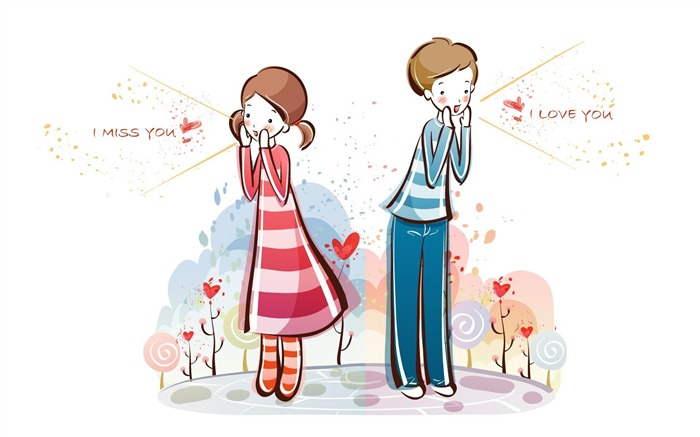 i love you-Romantic Valentines Day Vector wallpaper album Views:8542
