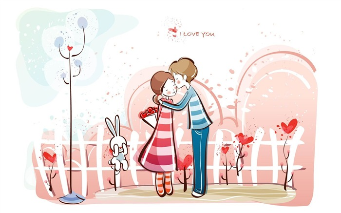 Romantic Valentines Day Vector wallpaper album-second series Views:13080