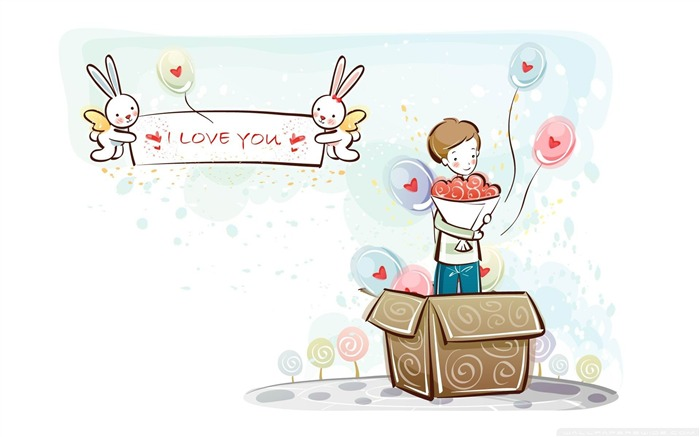 love present-Romantic Valentines Day Vector Wallpaper Views:6866