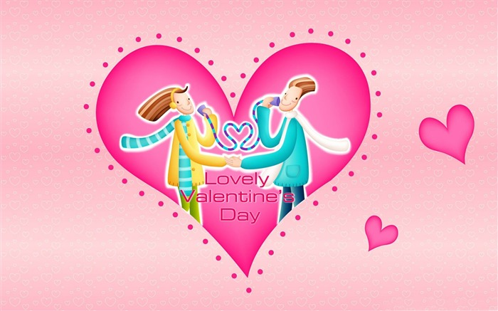 lovely-Romantic Valentines Day Vector wallpaper album Views:3440