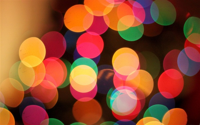 the first bokeh of christmas-Dream glare colorful design theme wallpaper Views:6155