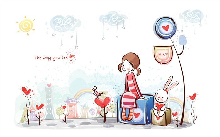 the way you are-Romantic Valentines Day Vector wallpaper album Views:3199