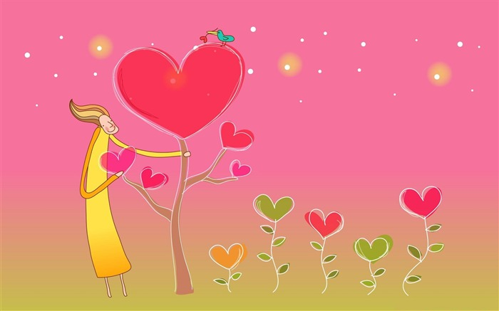 valentines day-Romantic Valentines Day Vector Wallpaper Views:3891