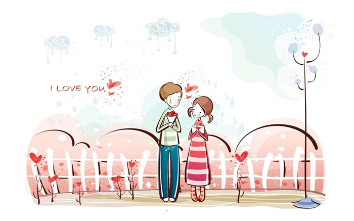 valentines day -Romantic Valentines Day Vector wallpaper album Views:2939