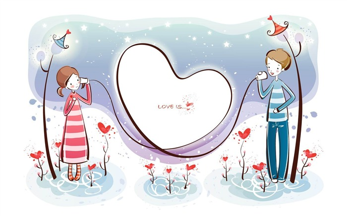 whispers-Romantic Valentines Day Vector wallpaper album Views:4574
