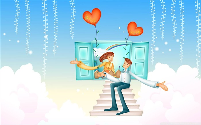 with love valentines day-Romantic Valentines Day Vector Wallpaper Views:3460