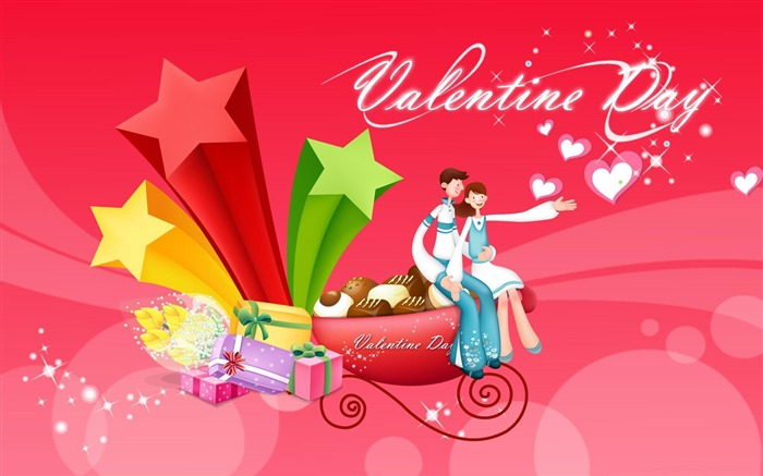 with love valentines day-Romantic Valentines Day Vector wallpaper album Views:3868