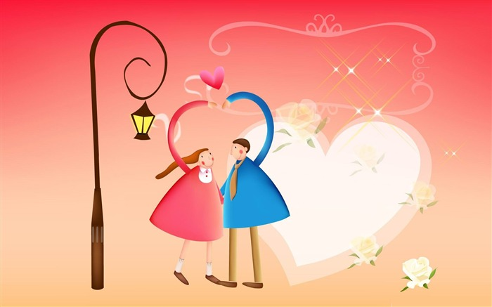 with love valentines day 02-Romantic Valentines Day Vector Wallpaper Views:3168
