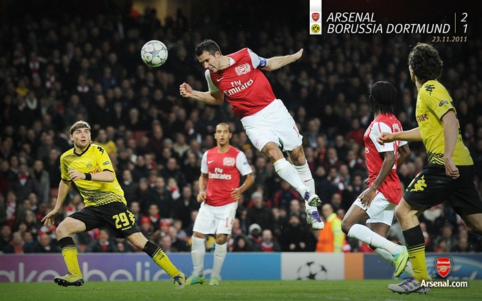 Arsenal 2-1 Dortmund-Arsenal 2011-12 season Desktop wallpaper Views:6779