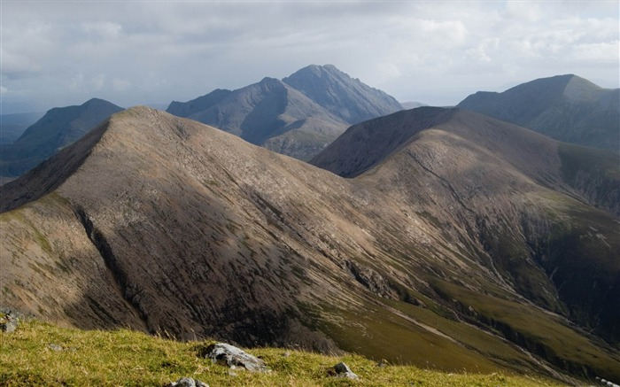 Beinn dearg mhor-Beautiful mountain scenery picture Views:8307