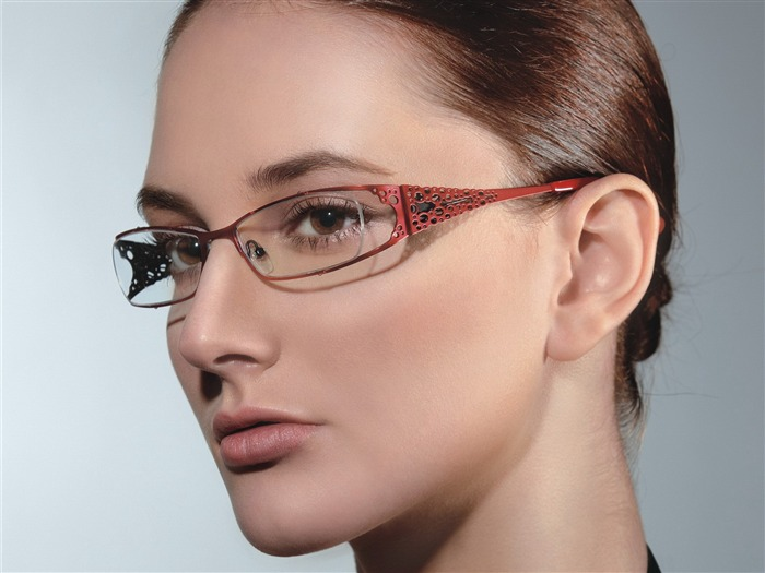 Charming beauty model glasses advertising Wallpaper 09 Views:10632