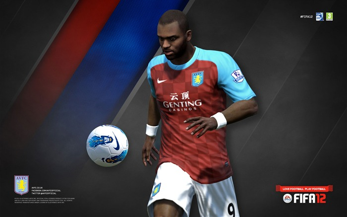FIFA12 Darren Bent-Aston Villa football club HD desktop wallpaper Views:5261