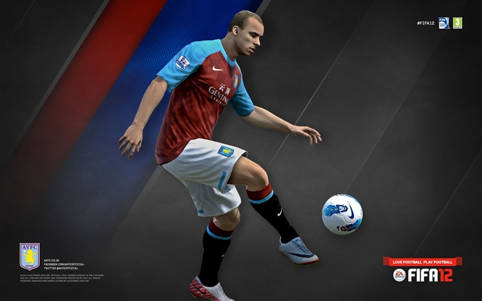 FIFA12 Gabby Agbonlahor-Aston Villa football club HD desktop wallpaper Views:5112