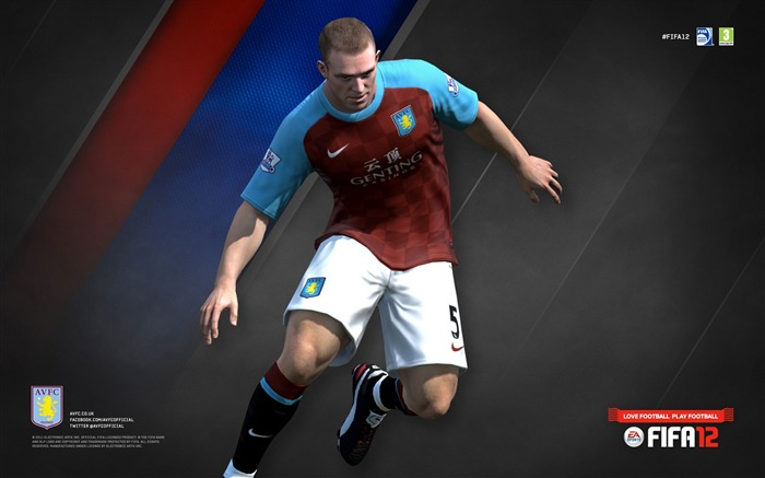 FIFA12 Richard Dunne-Aston Villa football club HD desktop wallpaper Views:4308