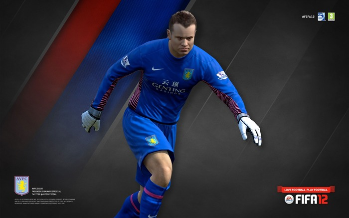 FIFA12 Shay Given-Aston Villa football club HD desktop wallpaper Views:4444