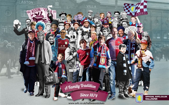 Fantastic montage-Aston Villa football club HD desktop wallpaper Views:5553